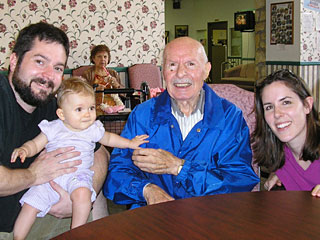 Rob, Violet, Uncle Mike, Cheris - Sept. 2005